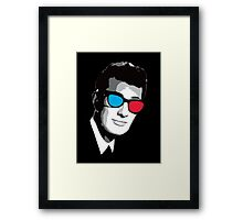 Buddy Holly 3D Glasses Framed Print