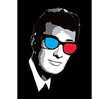 Buddy Holly 3D Glasses Photographic Print