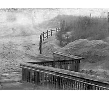 The Fog Hides Secrets- Black & White Version Photographic Print