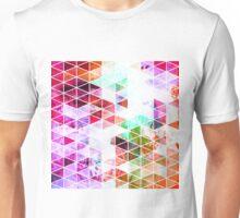 Pink Grungy Triangle Design Unisex T-Shirt