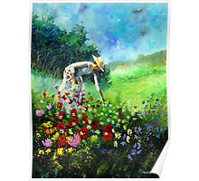 picking flowers Poster