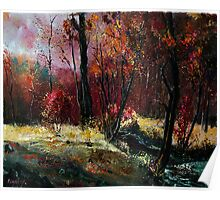Autumn in the wood  Poster