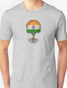 Tree of Life with Indian Flag T-Shirt