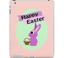 Happy Easter Girl Bunny iPad Case/Skin