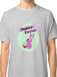 Happy Easter Girl Bunny Classic T-Shirt