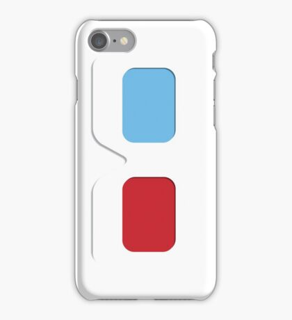 3D Glasses (white) iPhone Case/Skin