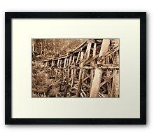 Sepia Trestle Framed Print