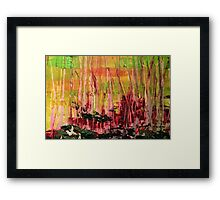 Black Bark Framed Print