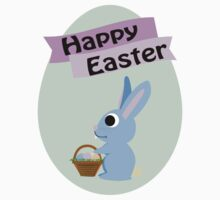 Happy Easter Blue Bunny Kids Clothes