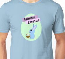 Happy Easter Blue Bunny Unisex T-Shirt