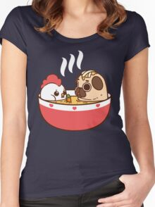Chicken Noodle Puglie Women's Fitted Scoop T-Shirt