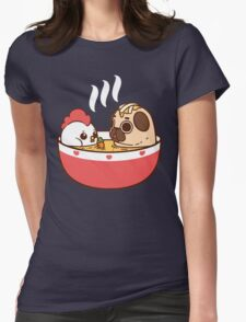 Chicken Noodle Puglie Womens Fitted T-Shirt