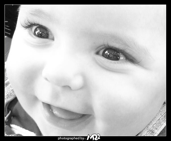 Baby smile black and white by MDQ9