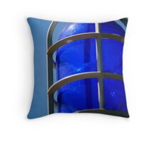 Blue Light Special Throw Pillow