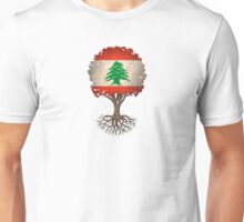 Tree of Life with Lebanese Flag Unisex T-Shirt