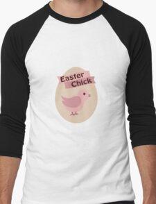Pink Easter Chick Men's Baseball ¾ T-Shirt