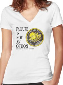 Apollo 11 - Failure is not an option Women's Fitted V-Neck T-Shirt