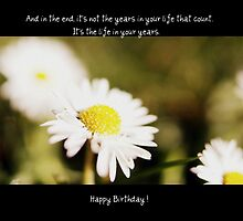 A Daisy Birthday Sentiment by Brenda Anderson