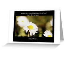 A Daisy Birthday Sentiment Greeting Card
