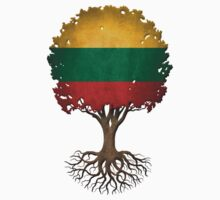 Tree of Life with Lithuanian Flag Kids Tee