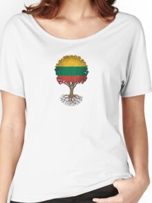 Tree of Life with Lithuanian Flag Women's Relaxed Fit T-Shirt