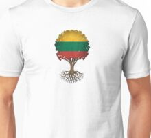 Tree of Life with Lithuanian Flag Unisex T-Shirt