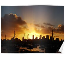 Sunset Sydney Harbour Poster