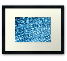 blue flow Framed Print