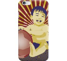 Chubby Baby with Peach iPhone Case/Skin
