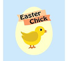 Cute Yellow Easter Chick Photographic Print