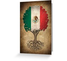 Tree of Life with Mexican Flag Greeting Card