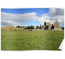 Rock of Cashel from Hore Abbey view 2 Poster
