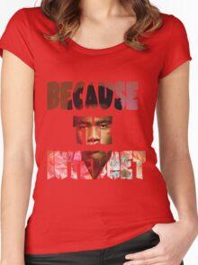 Childish Gambino Because The Internet Album Women's Fitted Scoop T-Shirt