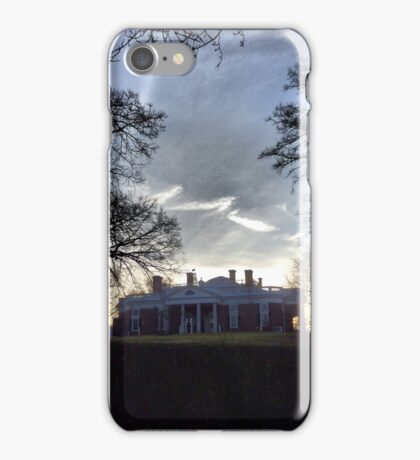 December Twilight at Monticello iPhone Case/Skin