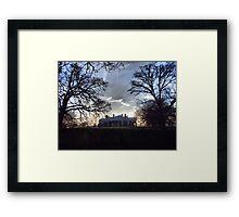 December Twilight at Monticello Framed Print