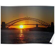 Sunset - Sydney Harbour Bridge Poster