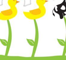 Duck, duck, duck COW! Sticker
