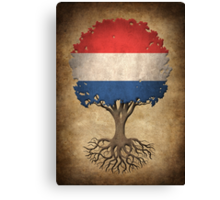Tree of Life with Dutch Flag Canvas Print
