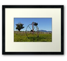 Penny Farthing Letterbox Framed Print