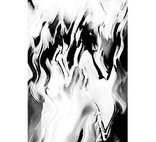 Psychmaster Clean Fire 102 BW Photographic Print