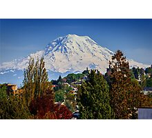 Mt. Rainer From PT. Defiance Zoo Photographic Print