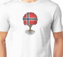 Tree of Life with Norwegian Flag Unisex T-Shirt