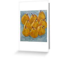 Ripe yellow pears Greeting Card
