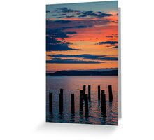 Puget Sound Sunset 2 Greeting Card