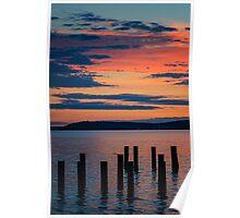 Puget Sound Sunset 2 Poster