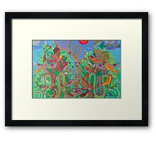 Two Trees and Fig Leaves in the Garden of Desire Framed Print