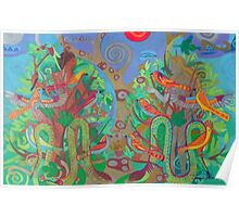 Two Trees and Fig Leaves in the Garden of Desire Poster