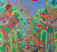 Two Trees and Fig Leaves in the Garden of Desire by Denise Weaver Ross