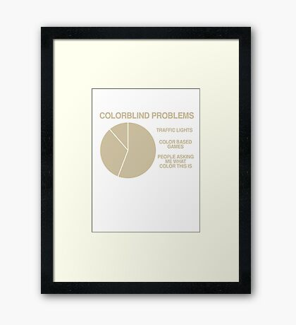 Color blind problems Framed Print