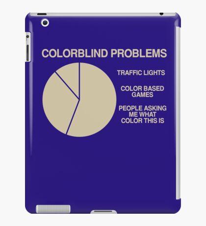 Color blind problems iPad Case/Skin